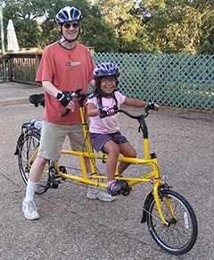 picture of a KidzTandem bicycle